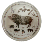 Schwein 2019 - 1oz Ag - Perth Mint *