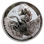 Pegasus 2019 - Reverse Frosted - 1oz Ag *