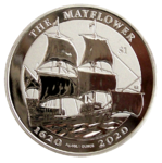 Mayflower 2020 - Reverse Frosted - 1oz Ag *