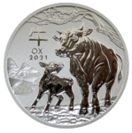 Ochse 2021 - 2oz Ag - Lunar III - Perth Mint *