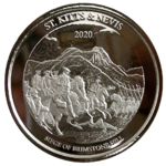 St.Kitts & Nevis 2020 - Brimstone Hill - 1oz Ag *
