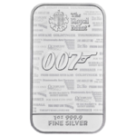 James Bond - 1oz Silberbarren