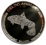 Tschad - Celtic Animals - Salmon 2021 - 1oz Ag *